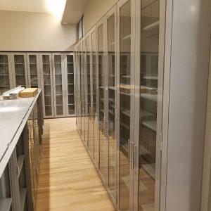 Open Shelving wGlass Insert Doors